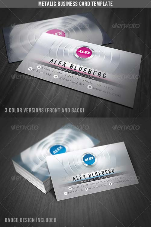 GraphicRiver Metalic Business Card