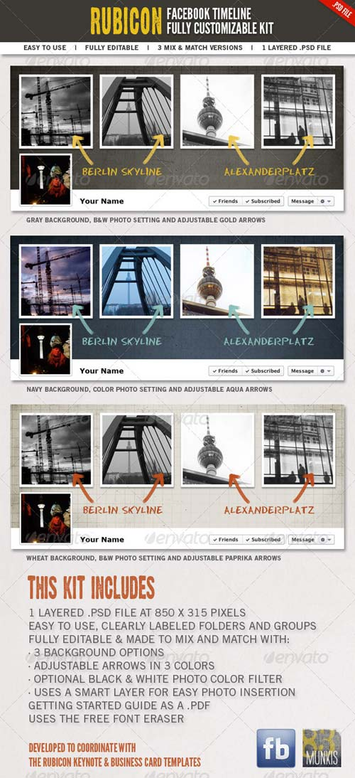 GraphicRiver Rubicon Facebook Timeline Kit