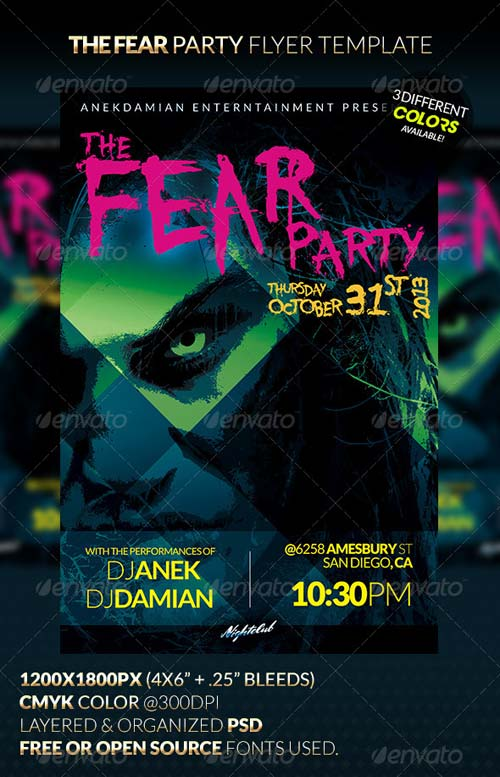GraphicRiver Fear Party Flyer Template