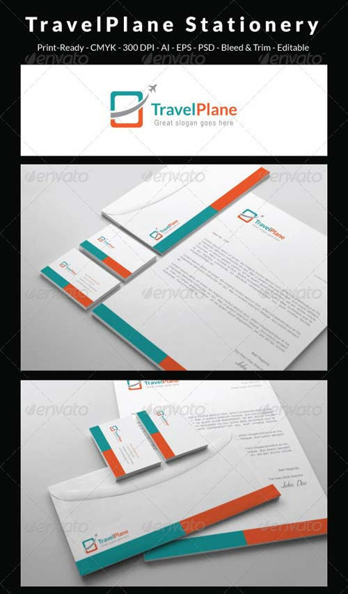 GraphicRiver Travel Plane - Stationery