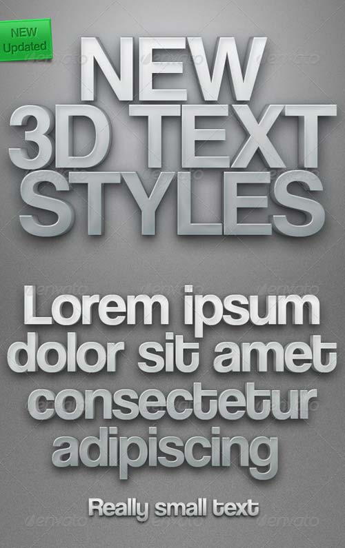GraphicRiver New 3D Text Styles