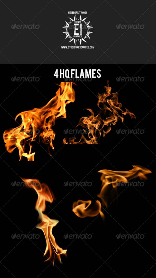GraphicRiver Isolated Flame Pack 1