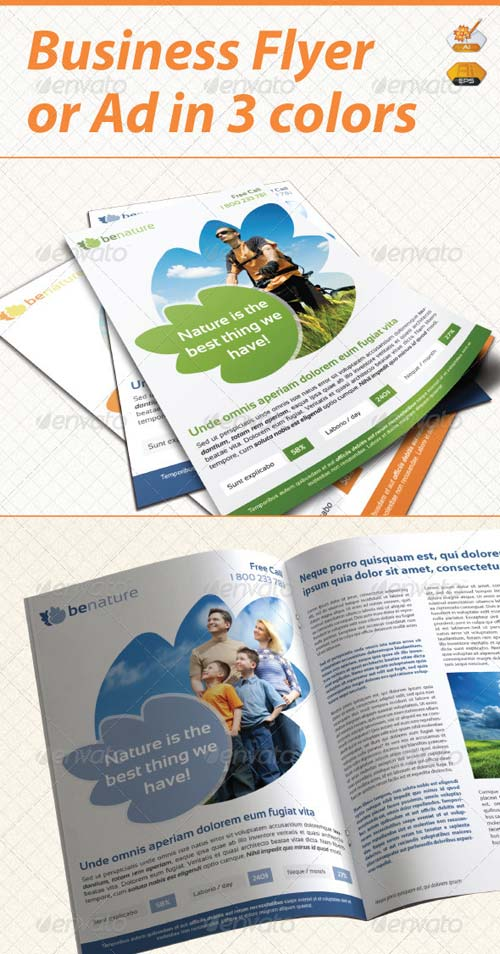 GraphicRiver Be Nature Flyer / Ad