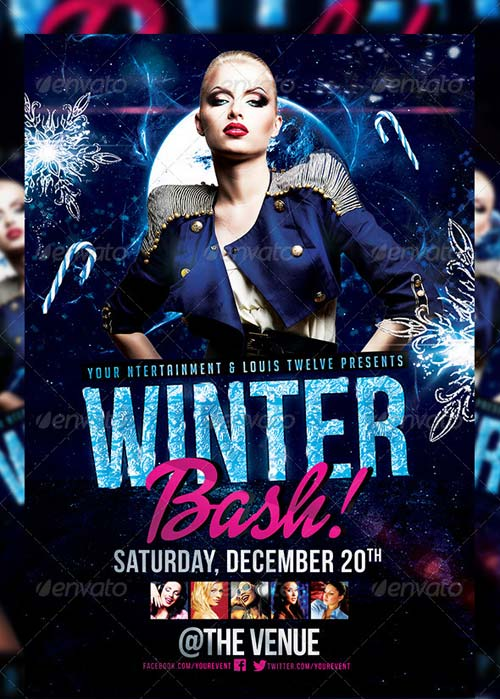 GraphicRiver Winter Bash 2 | Flyer + FB Cover