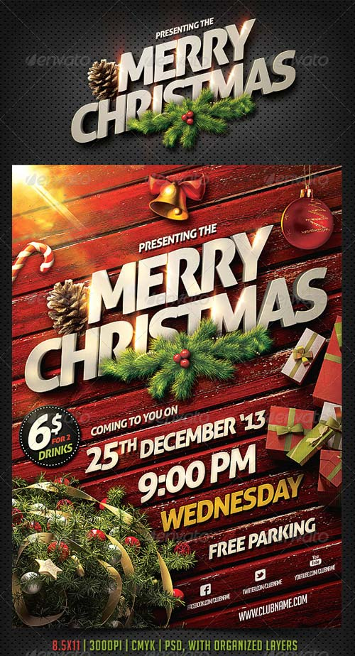 GraphicRiver Christmas Party Flyer Template 6254711