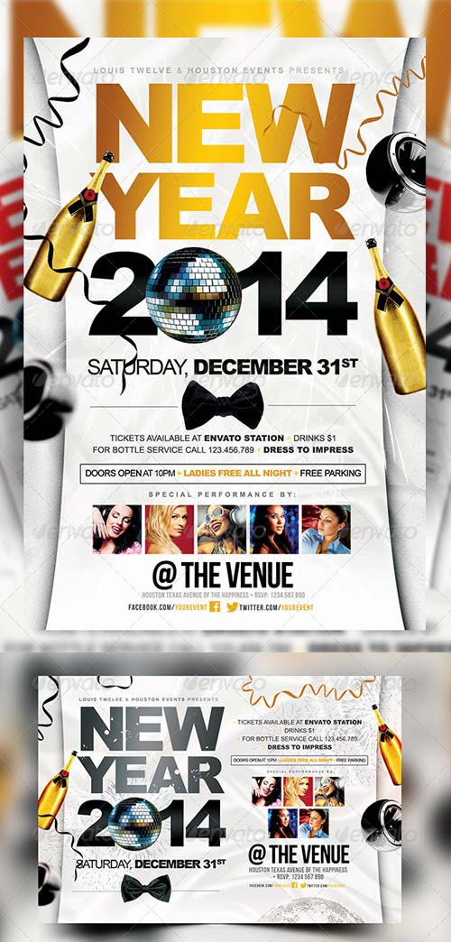 GraphicRiver New Year Party | Flyers + FB Cover
