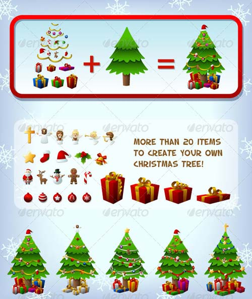 GraphicRiver Customizeable Christmas Tree