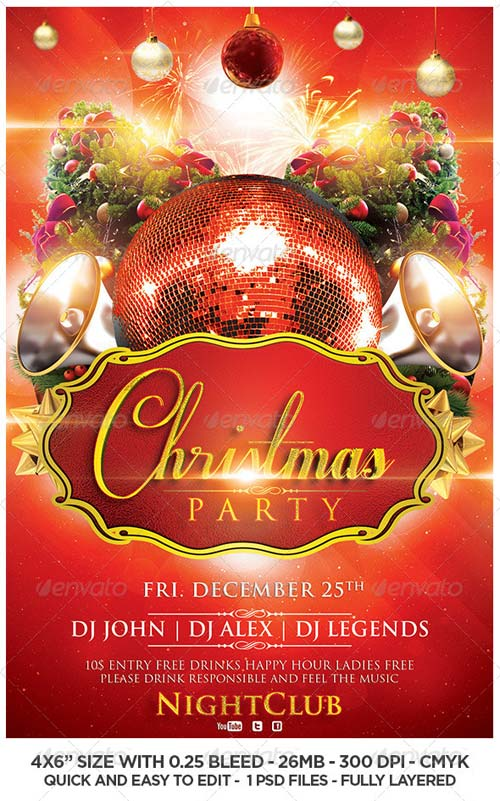 GraphicRiver Christmas Flyer Template