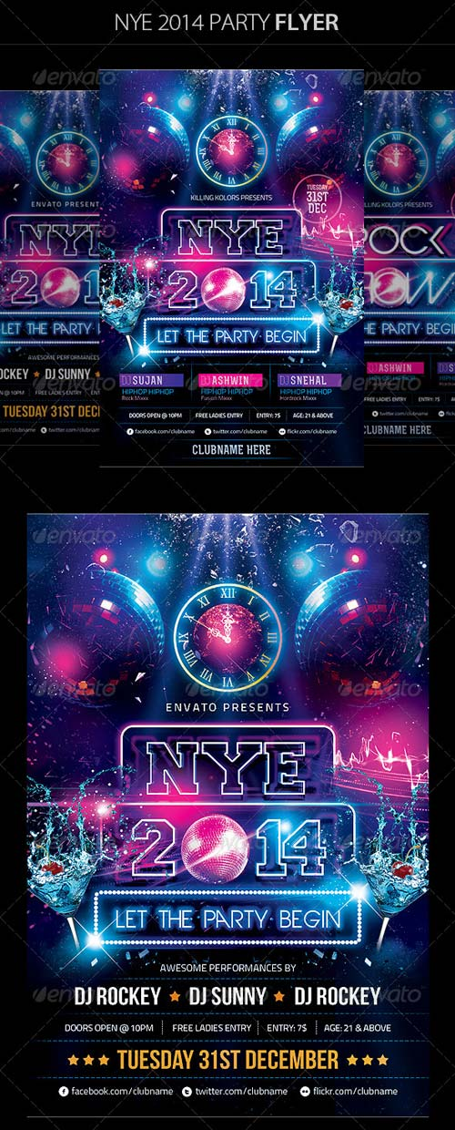 GraphicRiver New Year Party Flyer 6327077