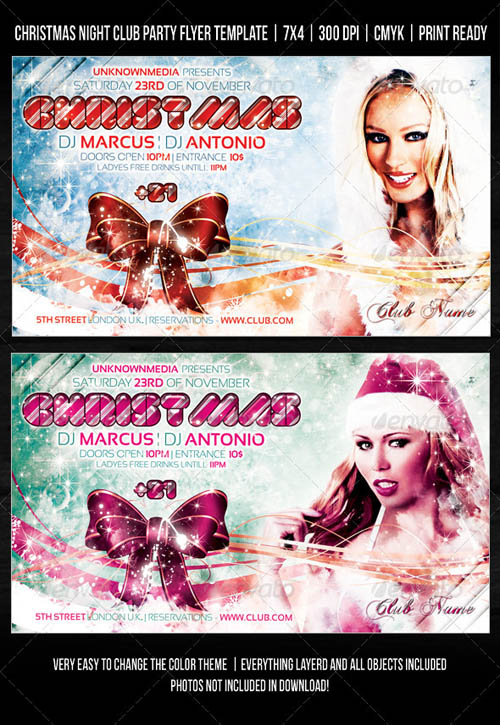 GraphicRiver Christmas Night Club Party / Concert Flyer V2