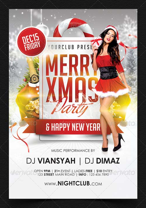 GraphicRiver Merry Xmas Party Flyer Template 6299640