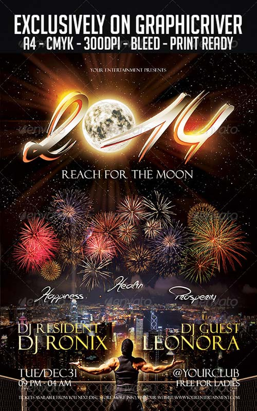 GraphicRiver New Year Flyer Template 6092274