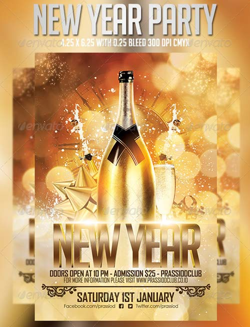 GraphicRiver New Year Party Flyer Template 6327693