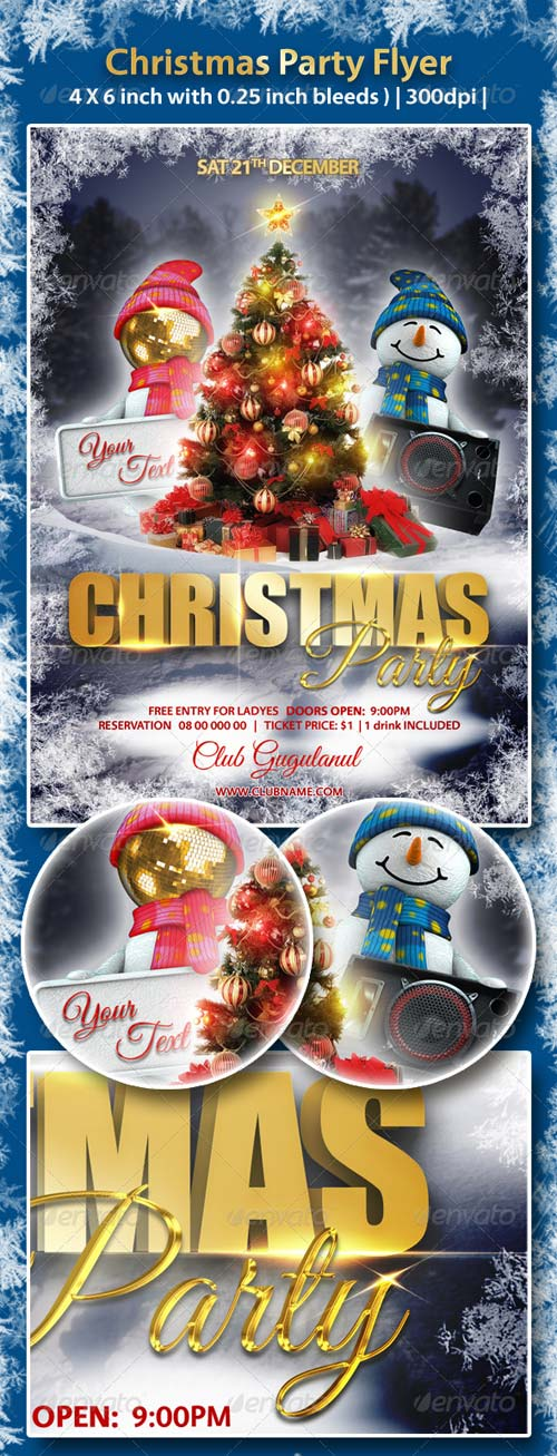 GraphicRiver Christmas Party Flyer 6273748