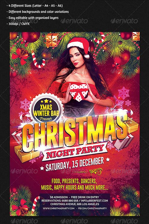 GraphicRiver Christmas Night Party Flyer