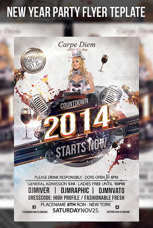 GraphicRiver New Year Party Flyer Template 6254523