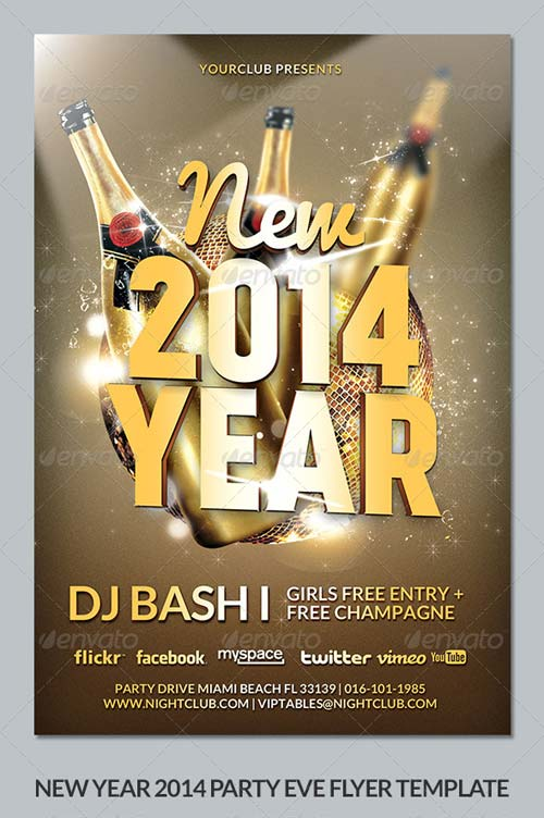 GraphicRiver New Year's Eve 2014 Party Flyer Template