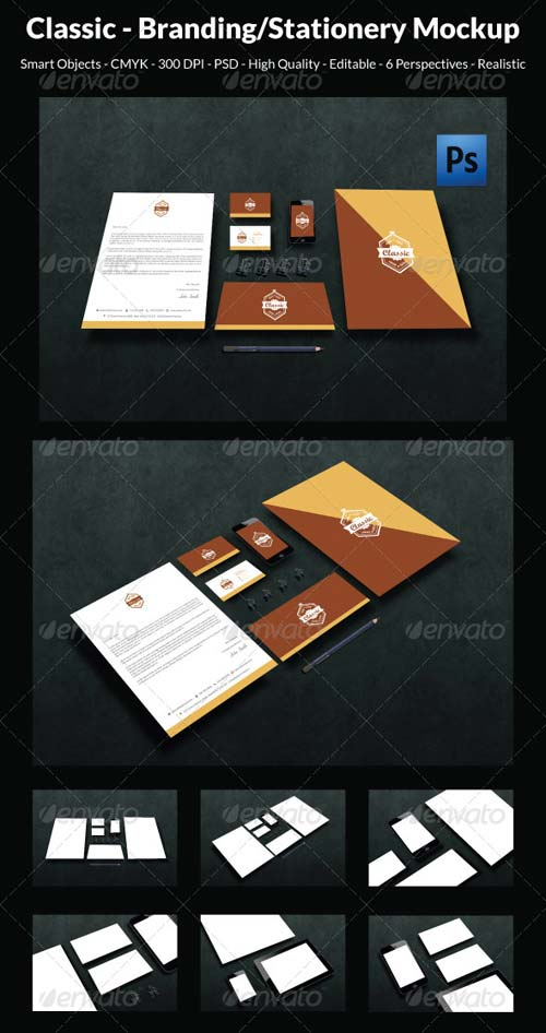 GraphicRiver Classic- Branding/Stationery Mockup