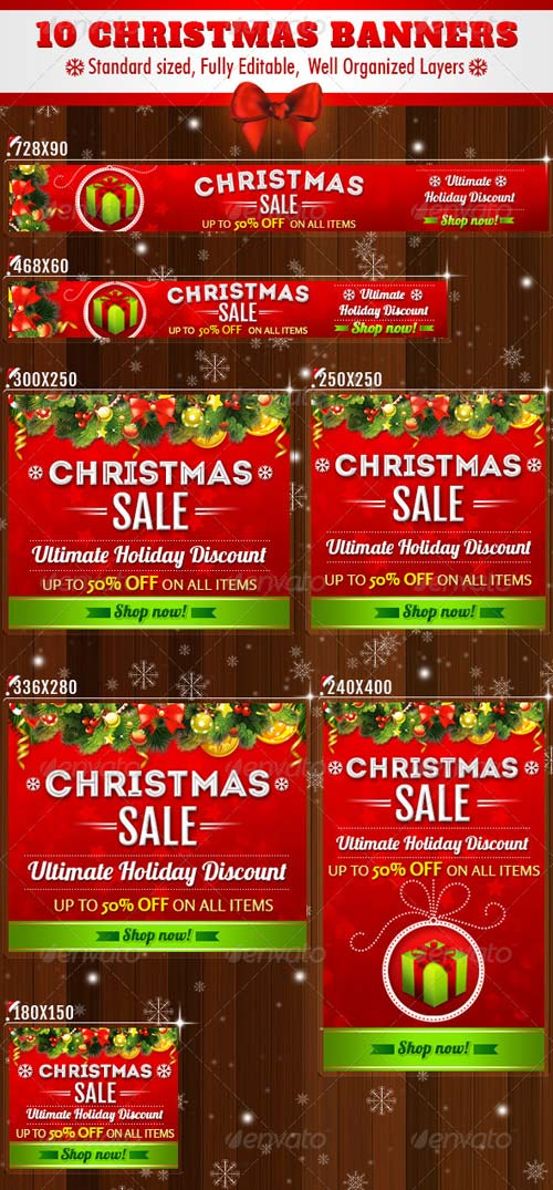 GraphicRiver 10 - Christmas Banners