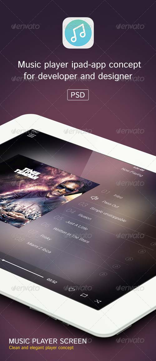 GraphicRiver Music Player Ipad App