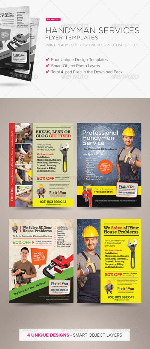 GraphicRiver Handyman Services Flyers