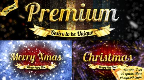 Christmas Luxury Logo - over 30 Variations - After Effects Project (Videohive)