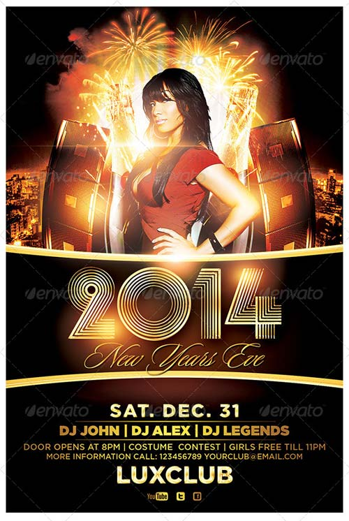 GraphicRiver 2014 New Years Eve Flyer