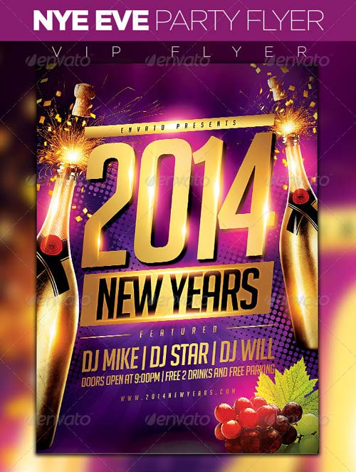GraphicRiver New Year Party Flyer 6168449