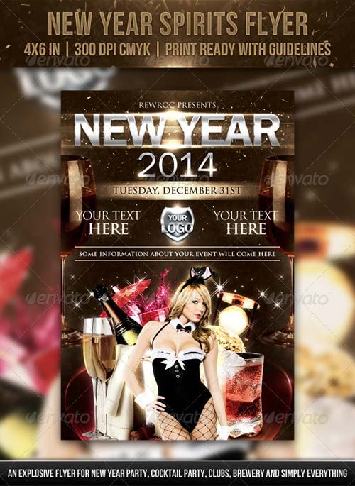 GraphicRiver New Year Spirits Flyer