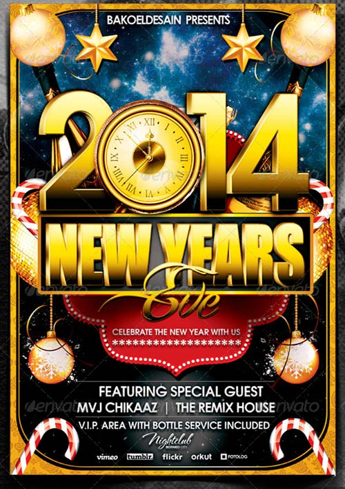 GraphicRiver New Year Party Flyer I