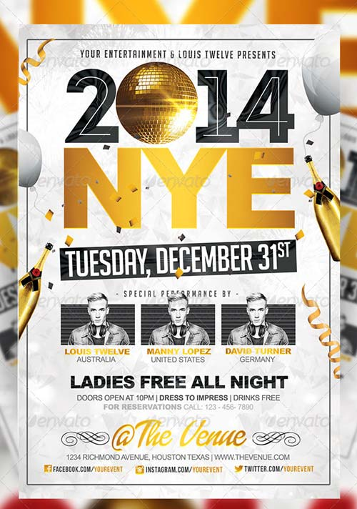 GraphicRiver NYE Party 2 | Flyer + FB Cover