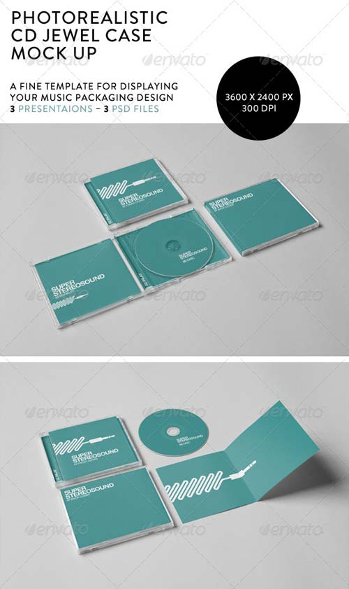 GraphicRiver Realistic CD Jewel Case Mock-Up