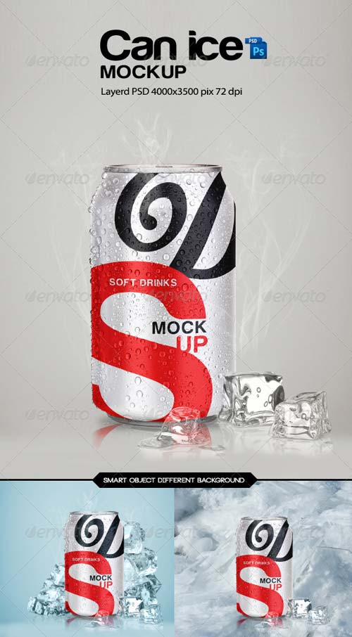GraphicRiver Can Ice Mock-Up