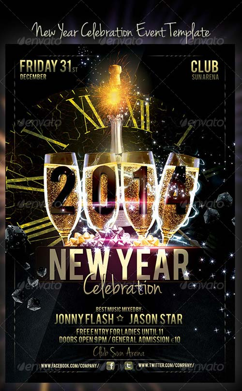 GraphicRiver New Year Celebration Event Template