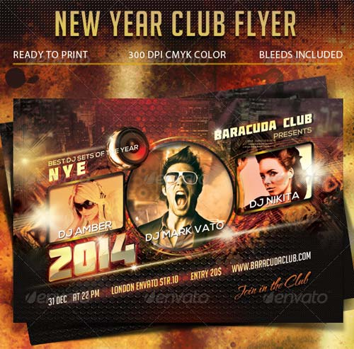 GraphicRiver New Year Club Flyer