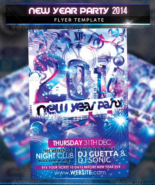 GraphicRiver New Year Party 2014 Flyer Template