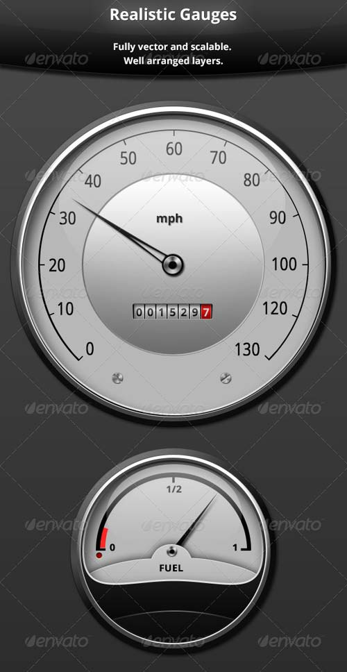GraphicRiver Realistic Gauges