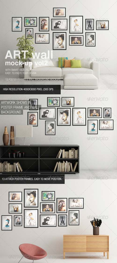 GraphicRiver Art Wall Mock-Up Vol.2