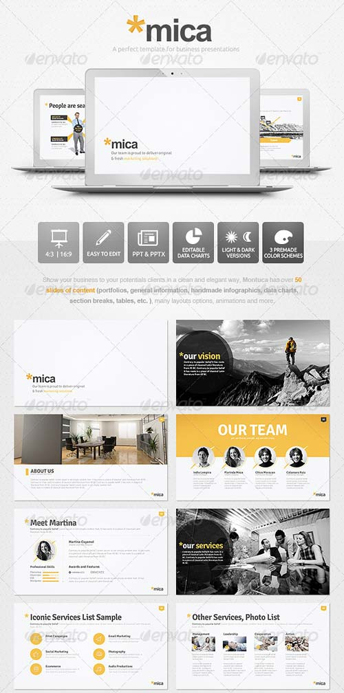 GraphicRiver Mica Powerpoint Presentation Template