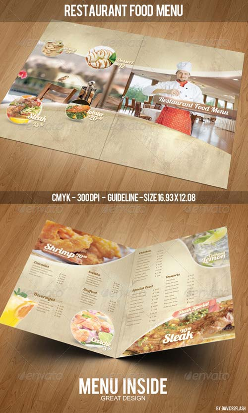 GraphicRiver Restaurant Food Menu Template