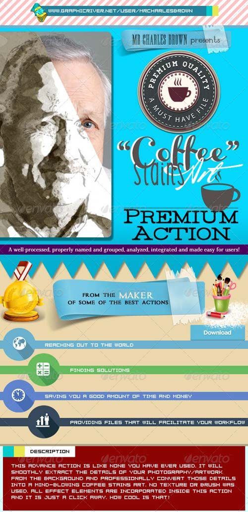 GraphicRiver Advance Coffee Stains Art