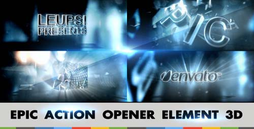 Epic Action Opener Element 3D - After Effects Project (Videohive)