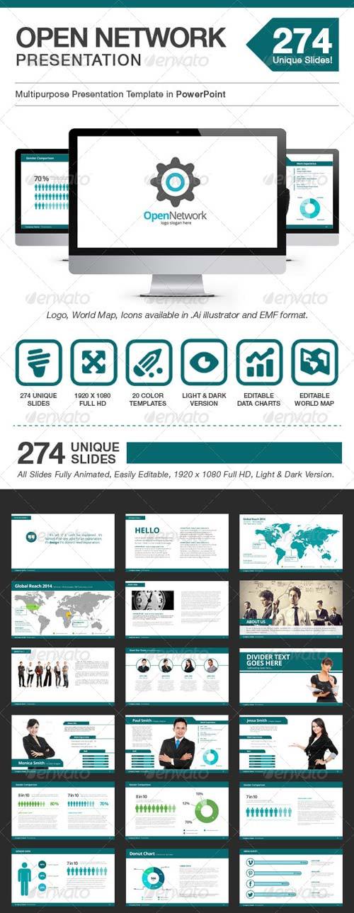 GraphicRiver Open Network Presentation - Power Point Template