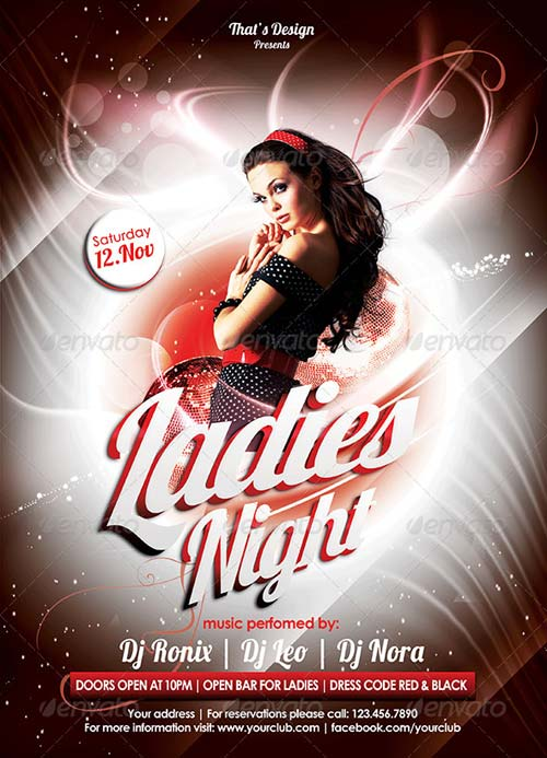 GraphicRiver Ladies Night Flyer Template 6341318
