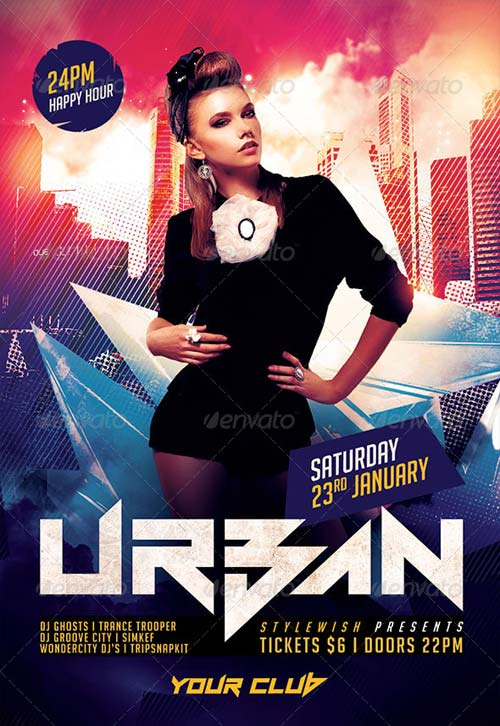 GraphicRiver Urban Party Flyer 6235768