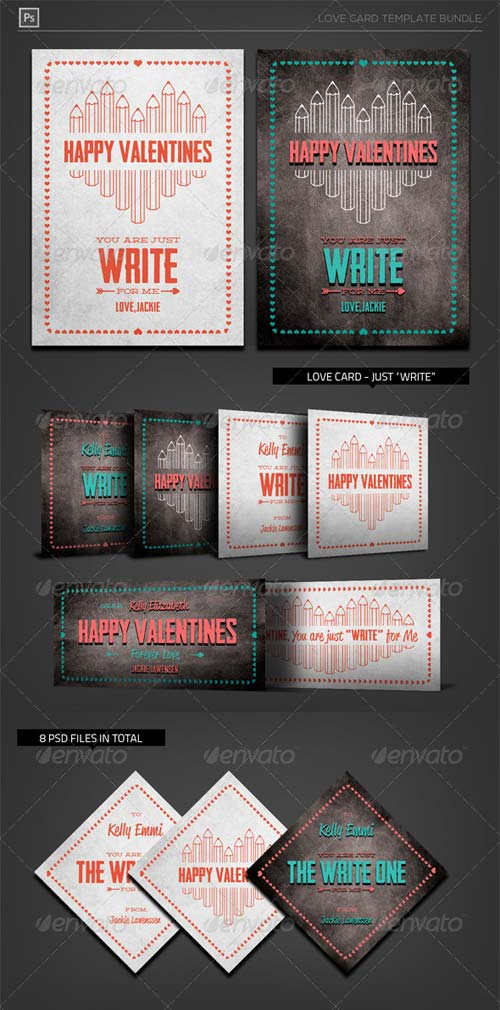 GraphicRiver Valentine Love Card - Just Write for Me