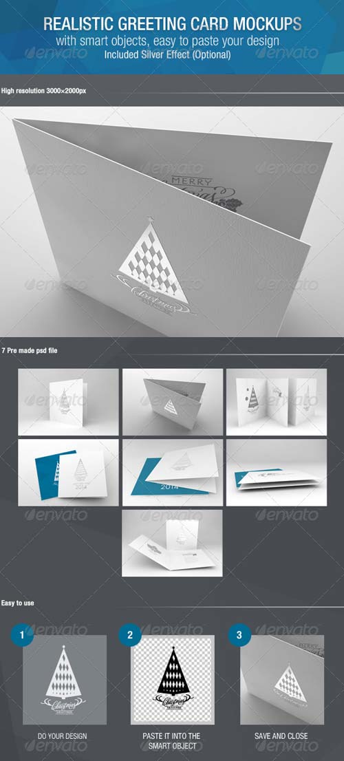 GraphicRiver Realistic Greeting Card Mockups