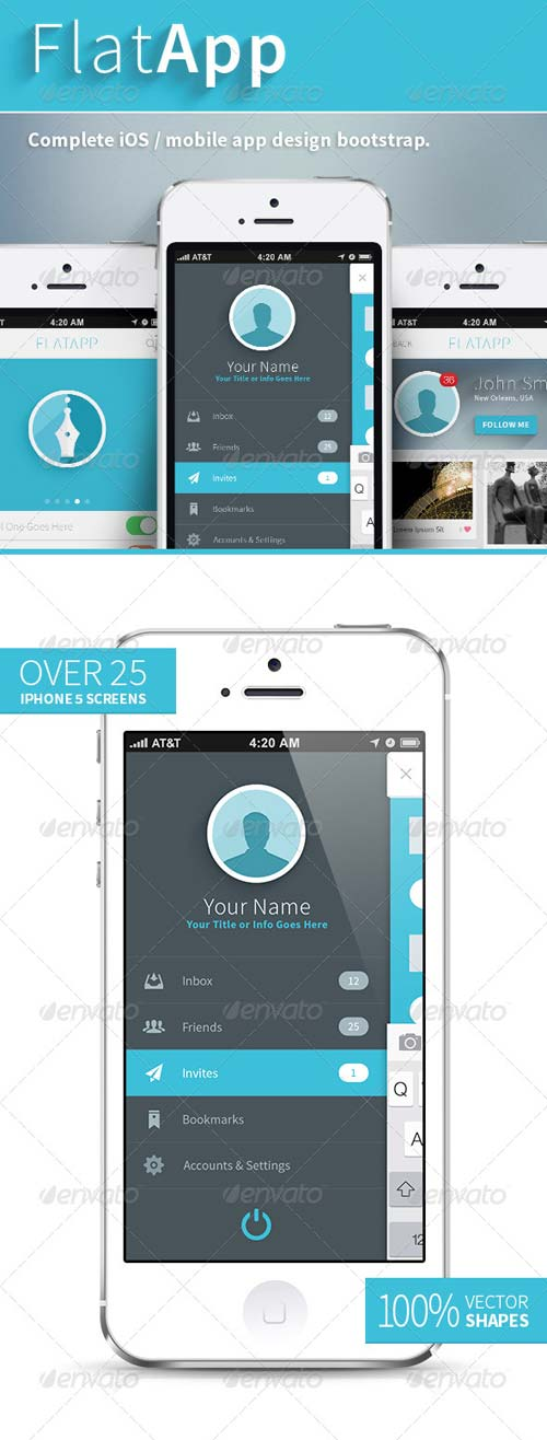 GraphicRiver FlatApp Mobile Phone App - Bootstrap