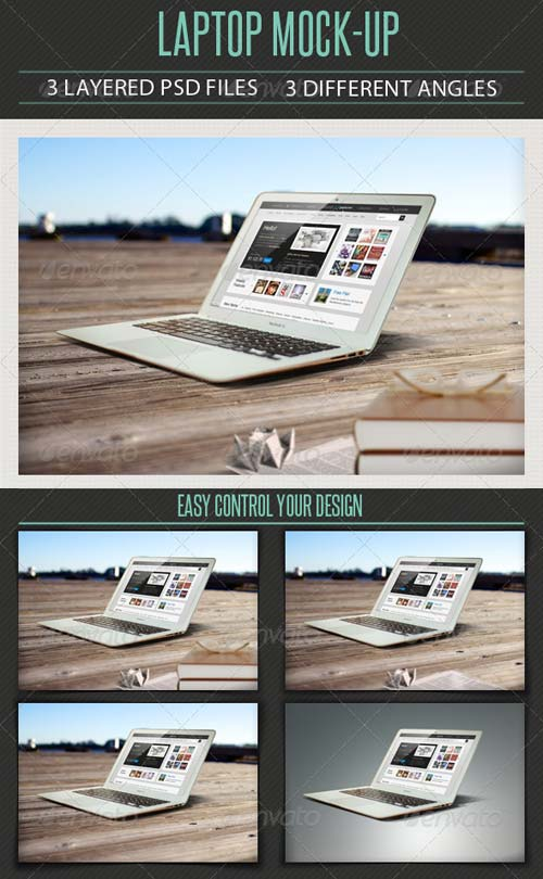 GraphicRiver Laptop Mock Up