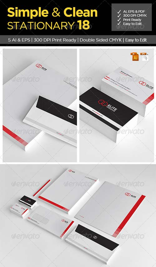 GraphicRiver Simple and Clean Stationary 18
